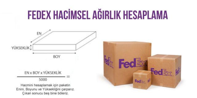 fedex hacimsel ağırlık hesaplama