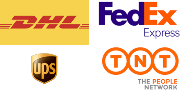 ups fedex dhl tnt